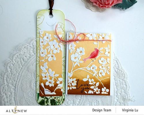 Altenew-BlossomingBranches 3D Embossing Folder-Rose Tea Stamp Set-Talltale Bookmark Die (2)