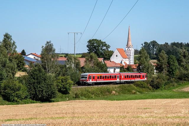 SOB 628 628-6 als RB 27124 auf dem Weg nach Landshut