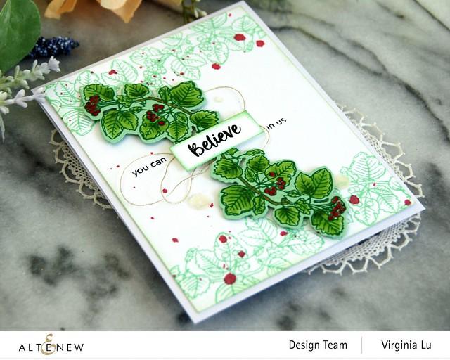 Altenew-Acai Berry Stamp & Die Bundle-Green Meadow Gradient Card Stock -003