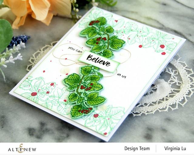 Altenew-Acai Berry Stamp & Die Bundle-Green Meadow Gradient Card Stock -002