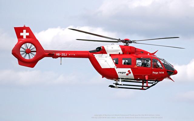 HB-ZQJ LSZH 09-08-2021 REGA - Swiss Air Ambulance Airbus Helicopters H145 CN 20232