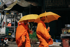 Two young monks, Phnom Penh (Cambodia)