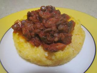 Polenta with Spicy Tomato Ragu