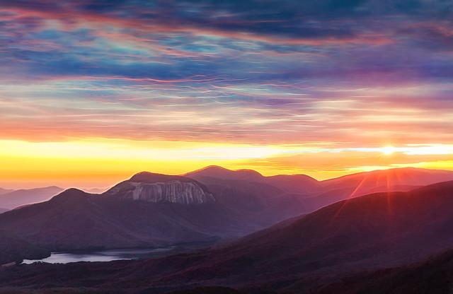 Sunset on the Blue Ridge Escarpment