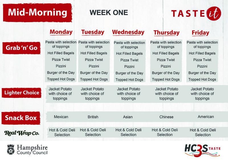 HC3S TASTE it St Anne's Daily Options Week 1