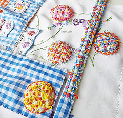 hand embroidered ribbon and applique