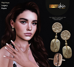 Coffee jewelry set by ChicChica @ Cosmopolitan