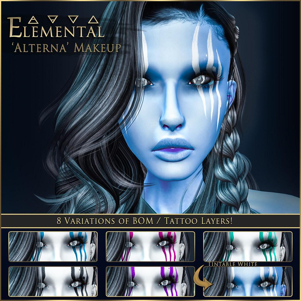 - ELEMENTAL - 'Alterna' Makeup  BOM Advert