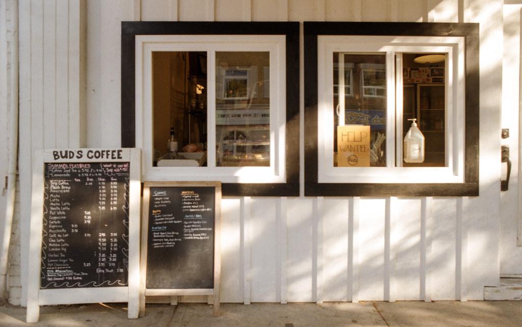 Bud's Coffee Window and Menu