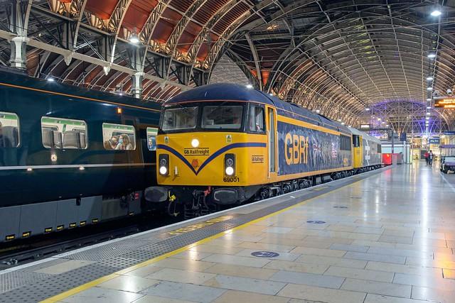 GBRf 69001 + 69002 London Paddington