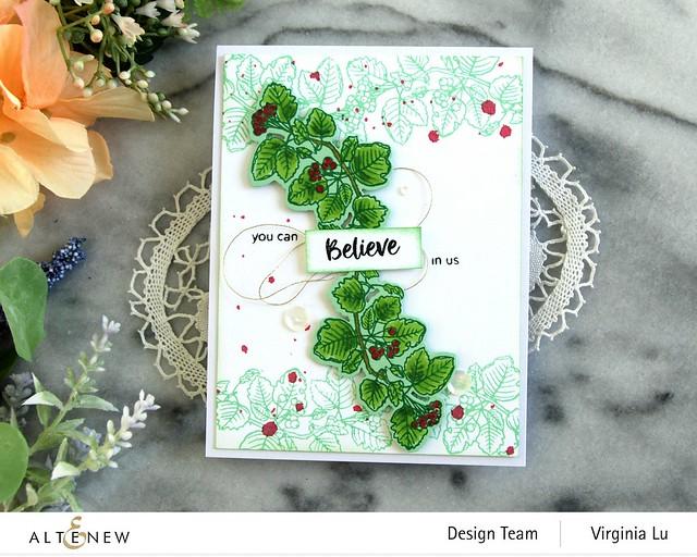 Altenew-Acai Berry Stamp & Die Bundle-Green Meadow Gradient Card Stock -004