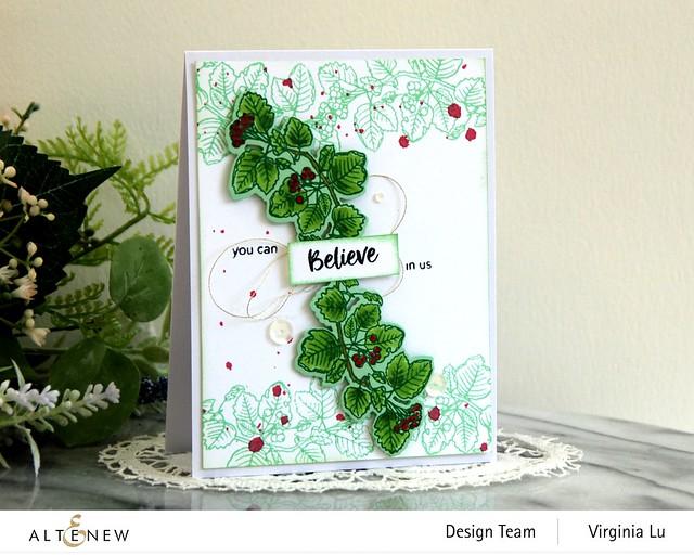 Altenew-Acai Berry Stamp & Die Bundle-Green Meadow Gradient Card Stock -001
