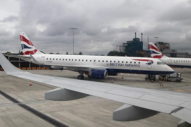 E190 G-LCAF BA Cityflyer - London City 2021