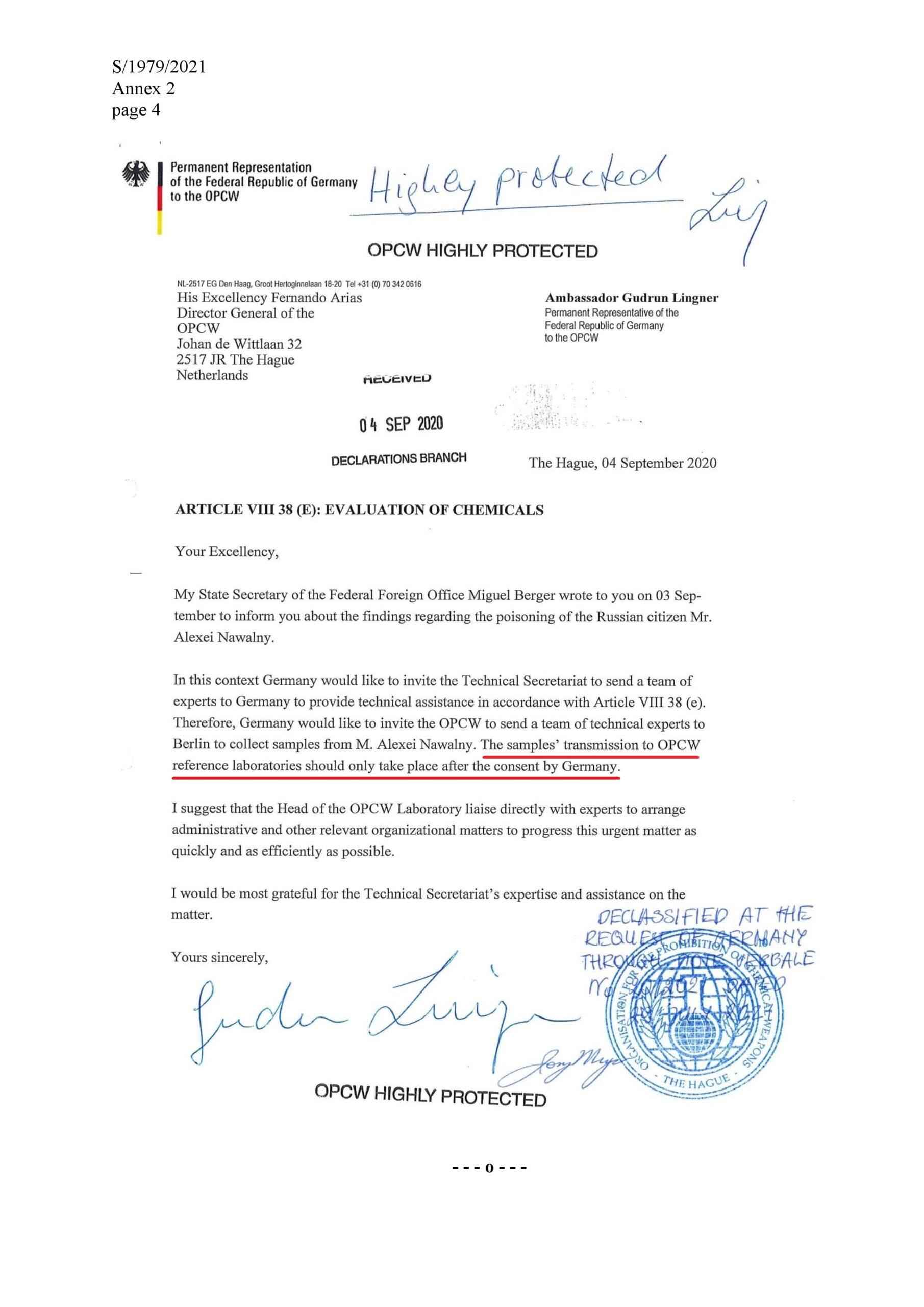 Correspondance entre l'Allemagne et l'OIAC
