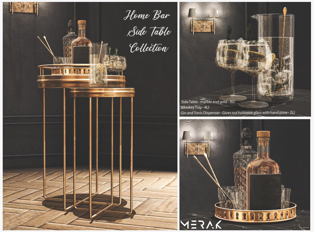Side Table from Merak's Home Bar Collection