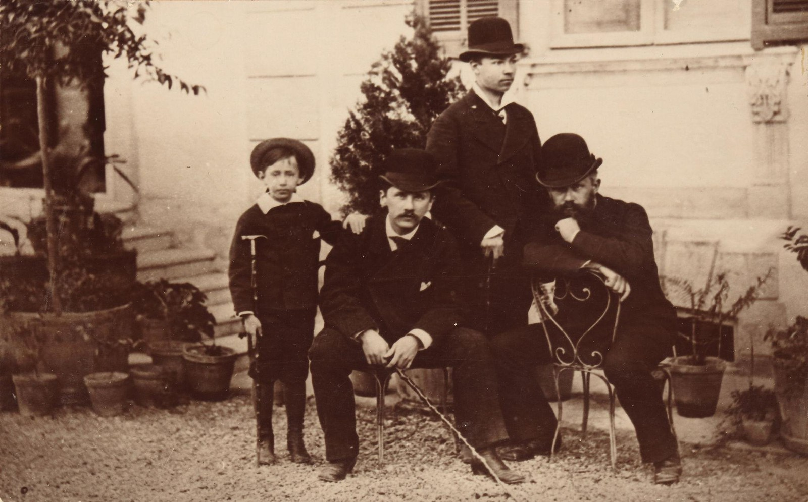 1878. Петр Чайковский, Модест Чайковский, Николай Конради и Алексей Софронов (1859-1925)