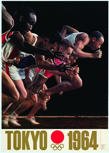 1964 Tokyo Olympics official poster_a start line_a, Credit - Courtesy of Prince Chichibu Memorial Sports Museum
