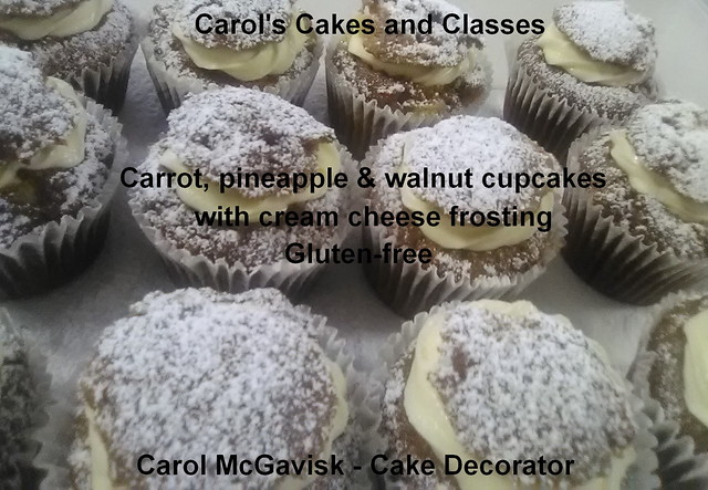 Cupcakes, Carrot, Pineapple & Walnut with Cream Cheese Frosting. 12th June 2021