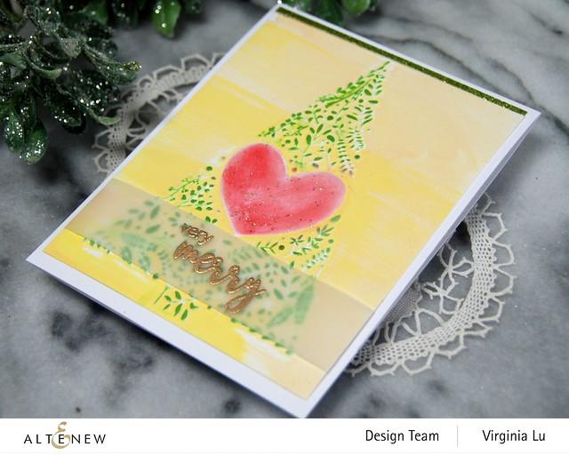 Altenew-Winter Foliage 3D Embossing Folder-Dry Brush Poinsettia Stamp Set-001