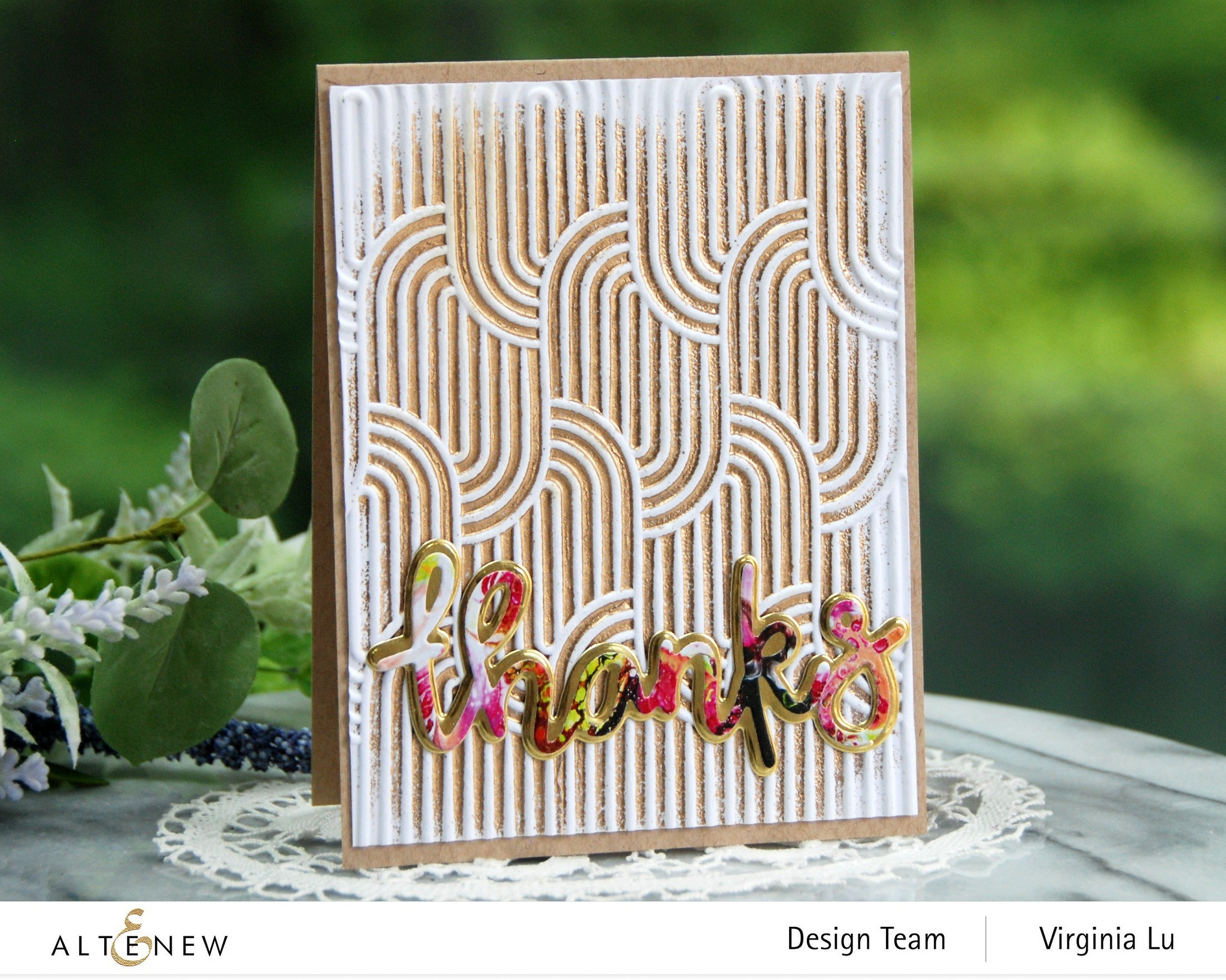 Altenew-Linked Ovals 3D Embossing Folder-All About Thanks Die