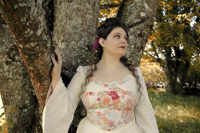 Robe de mariée inspiration kimono