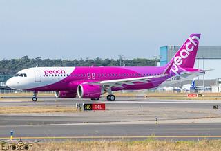 F-WWDZ / JA206P Airbus A320-251N Peach s/n 10591 - First flight * Toulouse Blagnac 2021 *