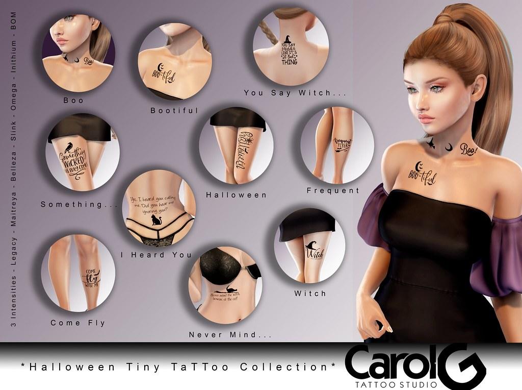 Halloween Tiny TaTToo Collection [CAROL G]