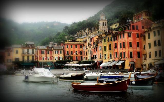 Rainy Day in Portofino, Italy