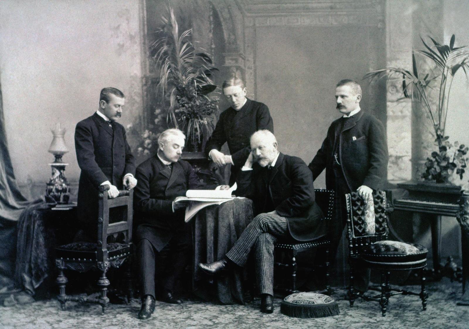 1890. Русский композитор Чайковский с тремя братьями