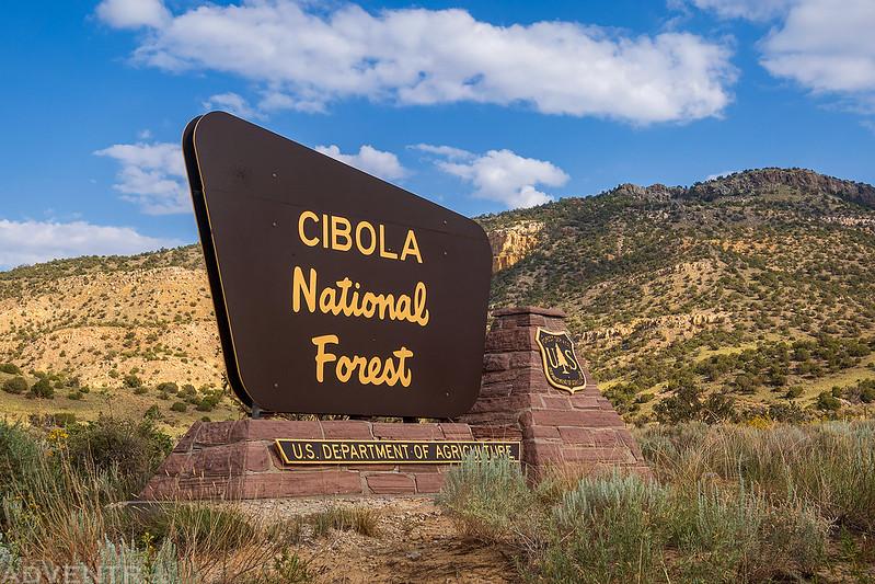 Cibola National Forest Sign
