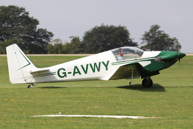 G-AVWY  -  Fournier RF4D c/n 4031  -  EGBK 3/9/21