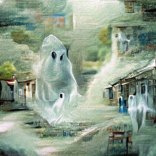 'a detailed painting of a ghost' Zeta Quantize