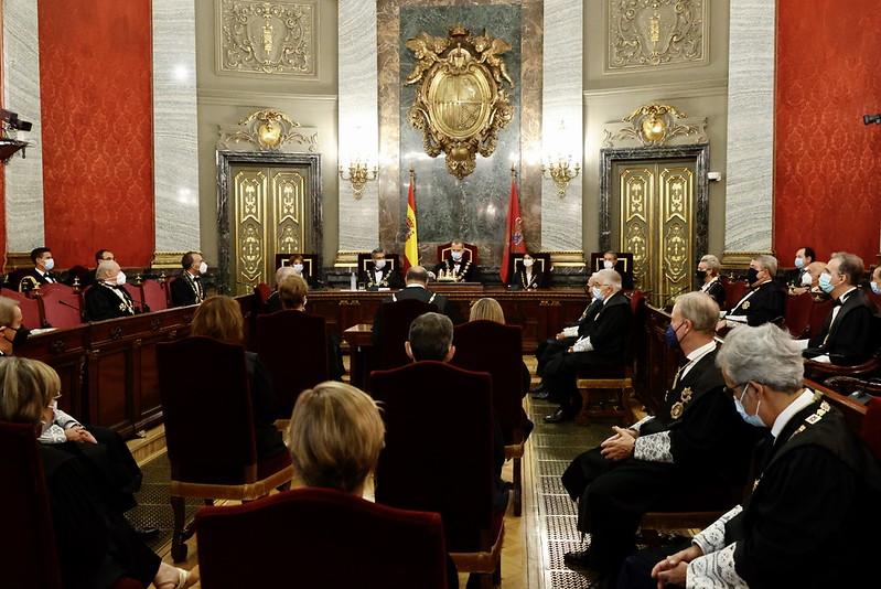 Apertura del Año Judicial del reino de España 2021-2022 en el Tribunal Supremo