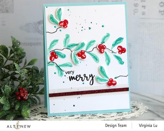 Altenew-MD Very Berry-Dry Brush Poinsettia-Glitter Gradient Cardstock Set - Pink Brilliance