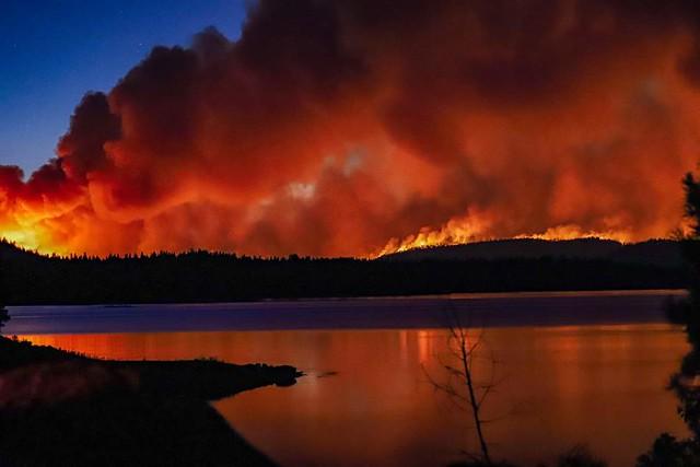 Wildfire Over Lake Davis
