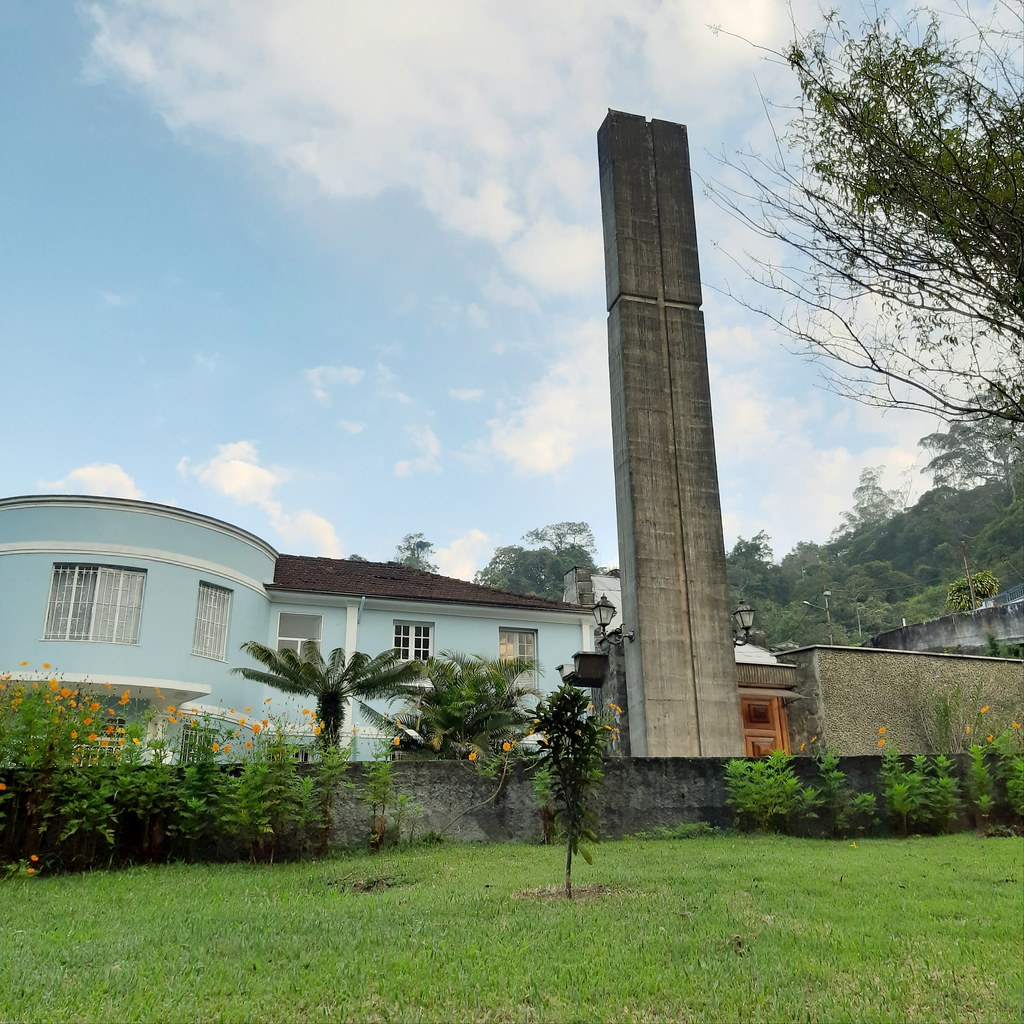 Our Lady of Lourdes church and school, Petropolis city, Brazil.