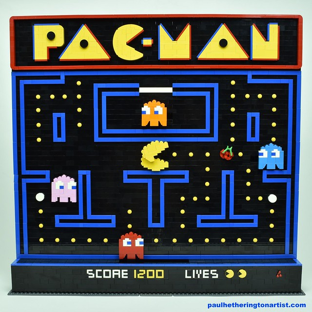 Classic LEGO Pac-Man Poster