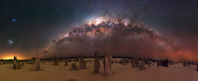 Milky Way at The Pinnacles Desert, Western Australia