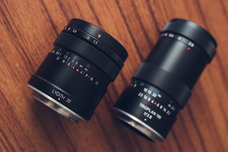 Meyer Lenses Lydith II & Trioplan II