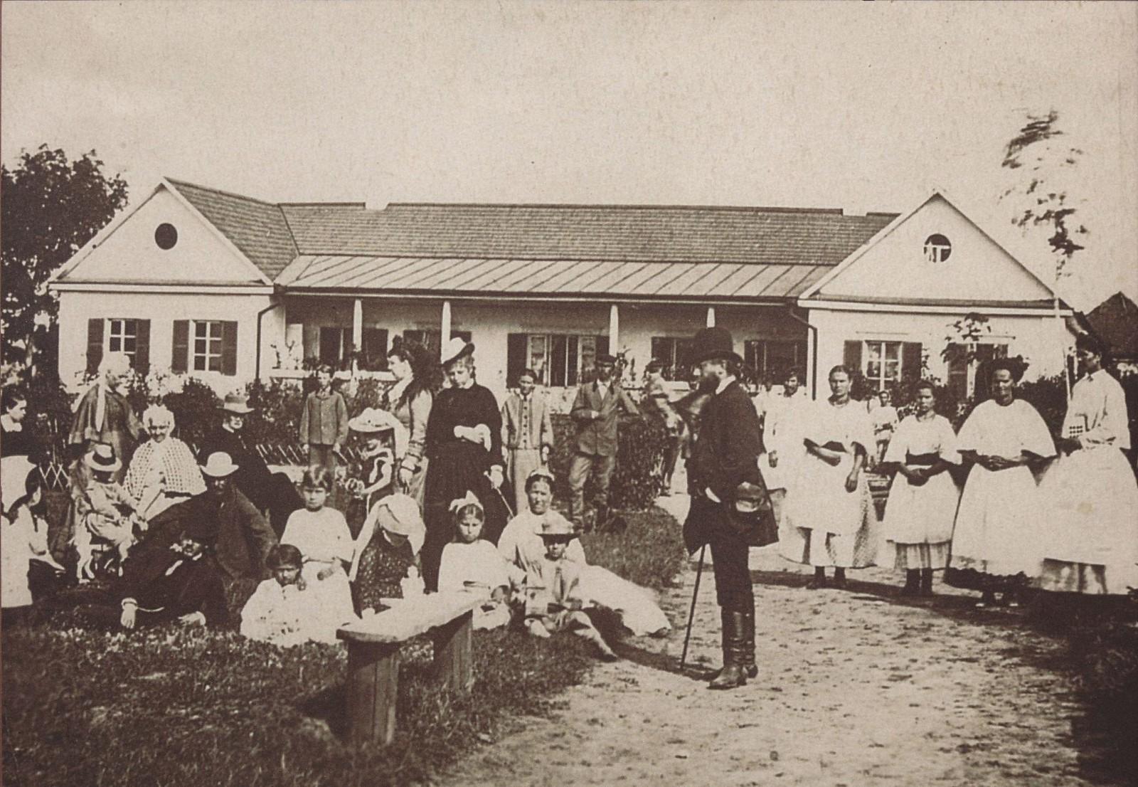 1875. Петр Чайковский с семьей Давыдова в усадьбе Каменка,