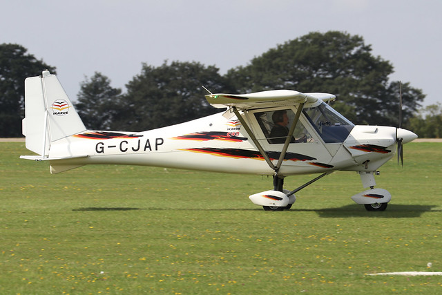 G-CJAP  -  Comco Ikarus C42 FB80 c/n 1003-7095  -  EGBK 3/9/21
