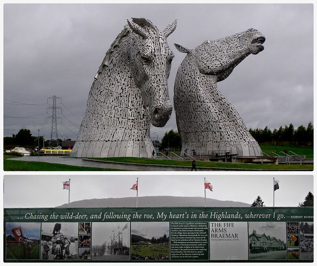 The Kelpies - Falkirk Scotland and indeed My heart is in the Highlands and in Breamar the place of the Highland Games.