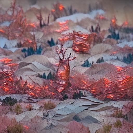 'a forest fire made of copper' Zeta Quantize