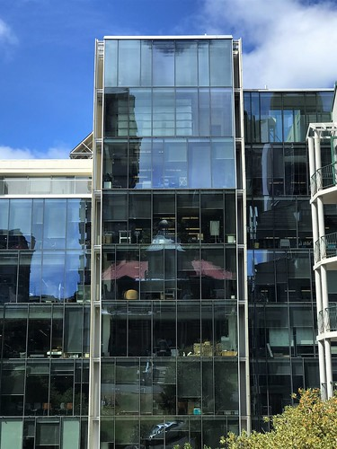<p>Boulcott St., Wellington <br /> <br /> ...and if you know your Wellington cityscapes, you may just recognise the reflection of Antrim House (c.1905), the HQ of Heritage NZ.</p>
