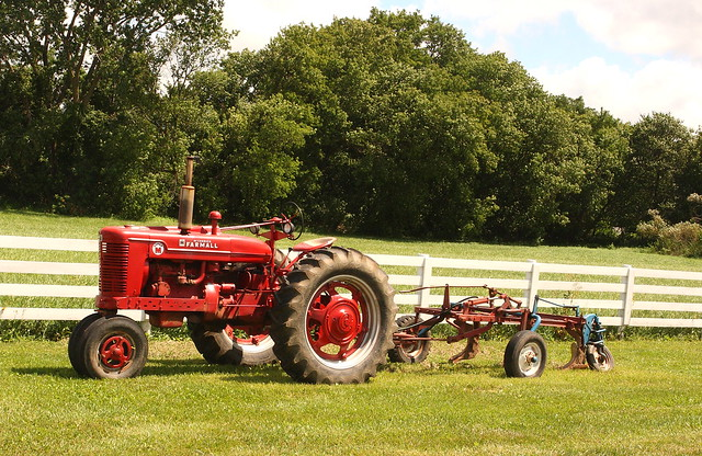Farmall Tractor and Plow