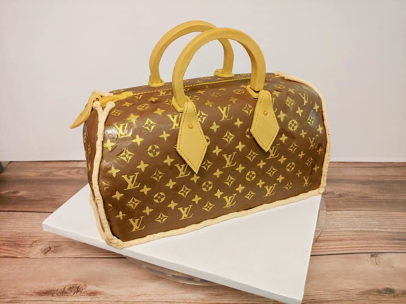 LV Bag Cake by Fondant & Frosting
