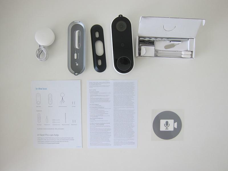 Nest Doorbell (Wired) - Box Content