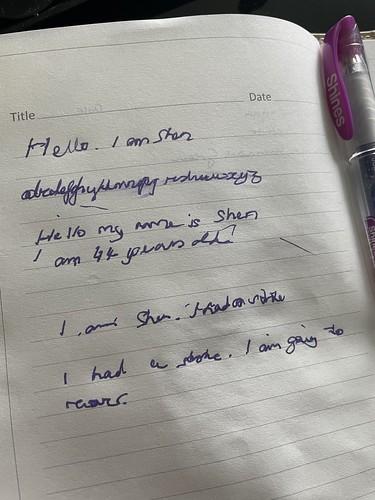 Stroke handwriting