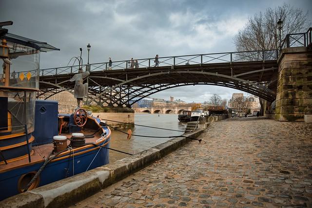 Paris - Pont des Arts / Port des Saints Pères promenade