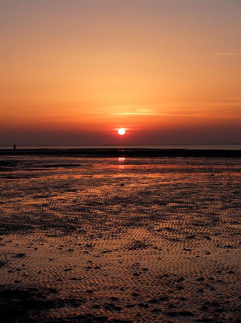 Sunset over Tankerton sands....